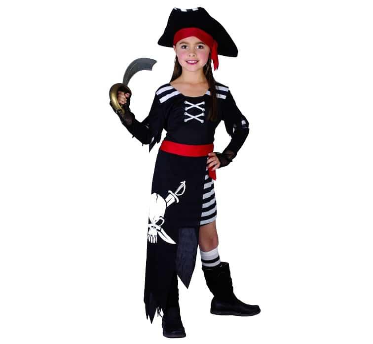 Piratklänning maskeraddräkt barn S