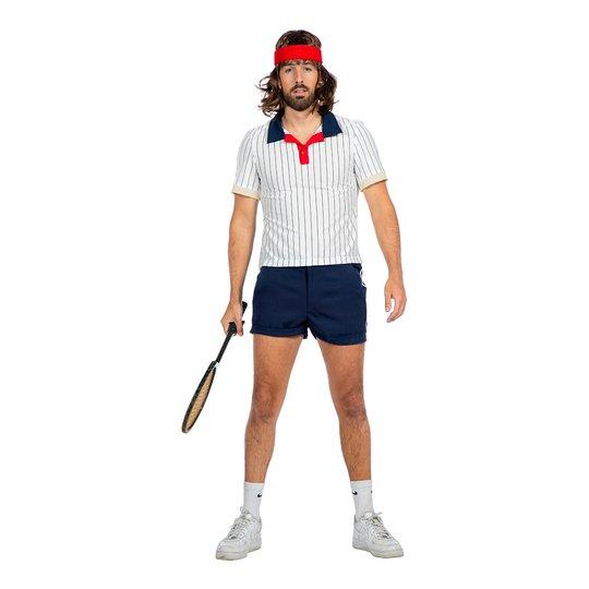 Tennisspelare Retro Herr Maskeraddräkt - 48