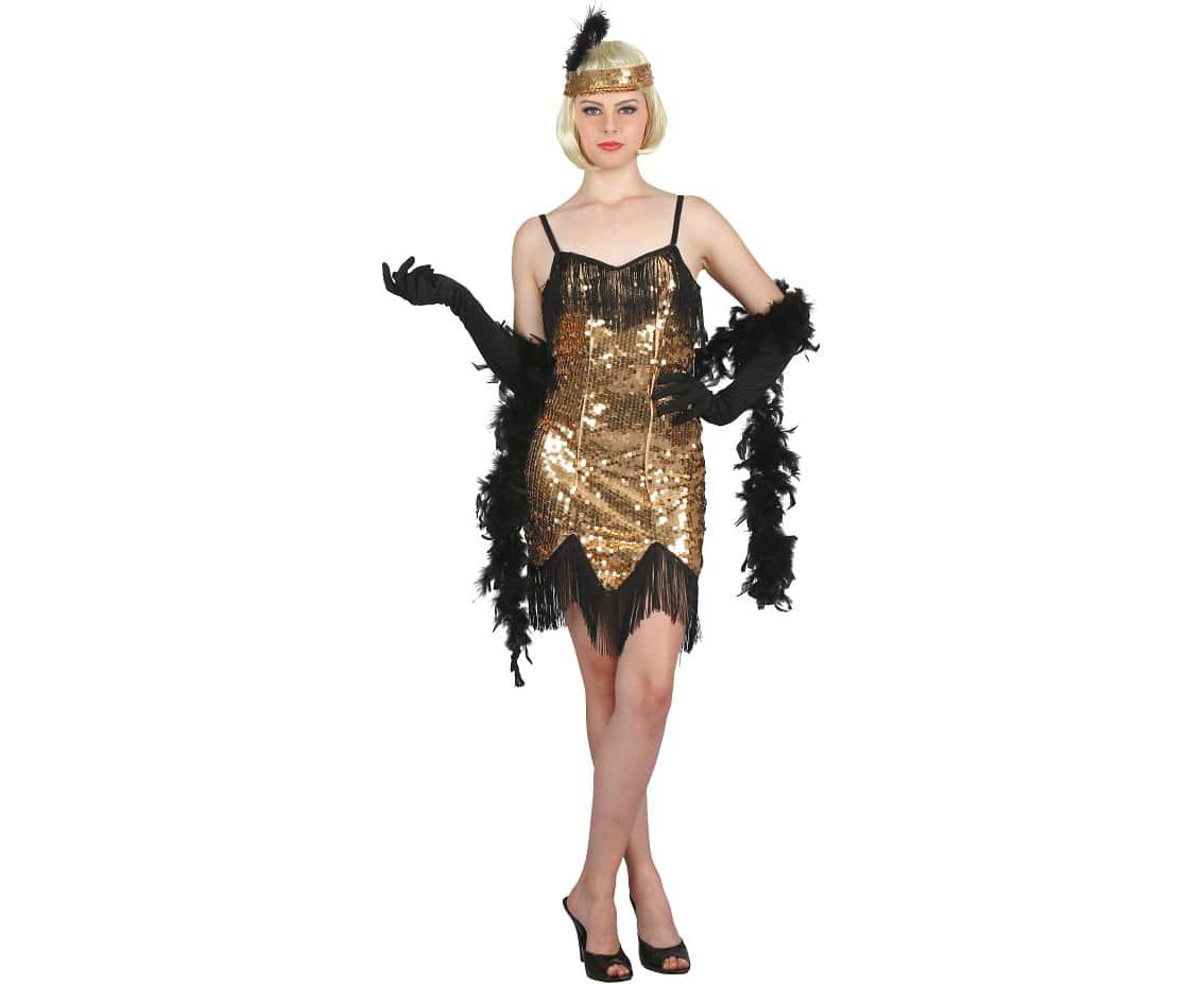 Charlestonklänning guld