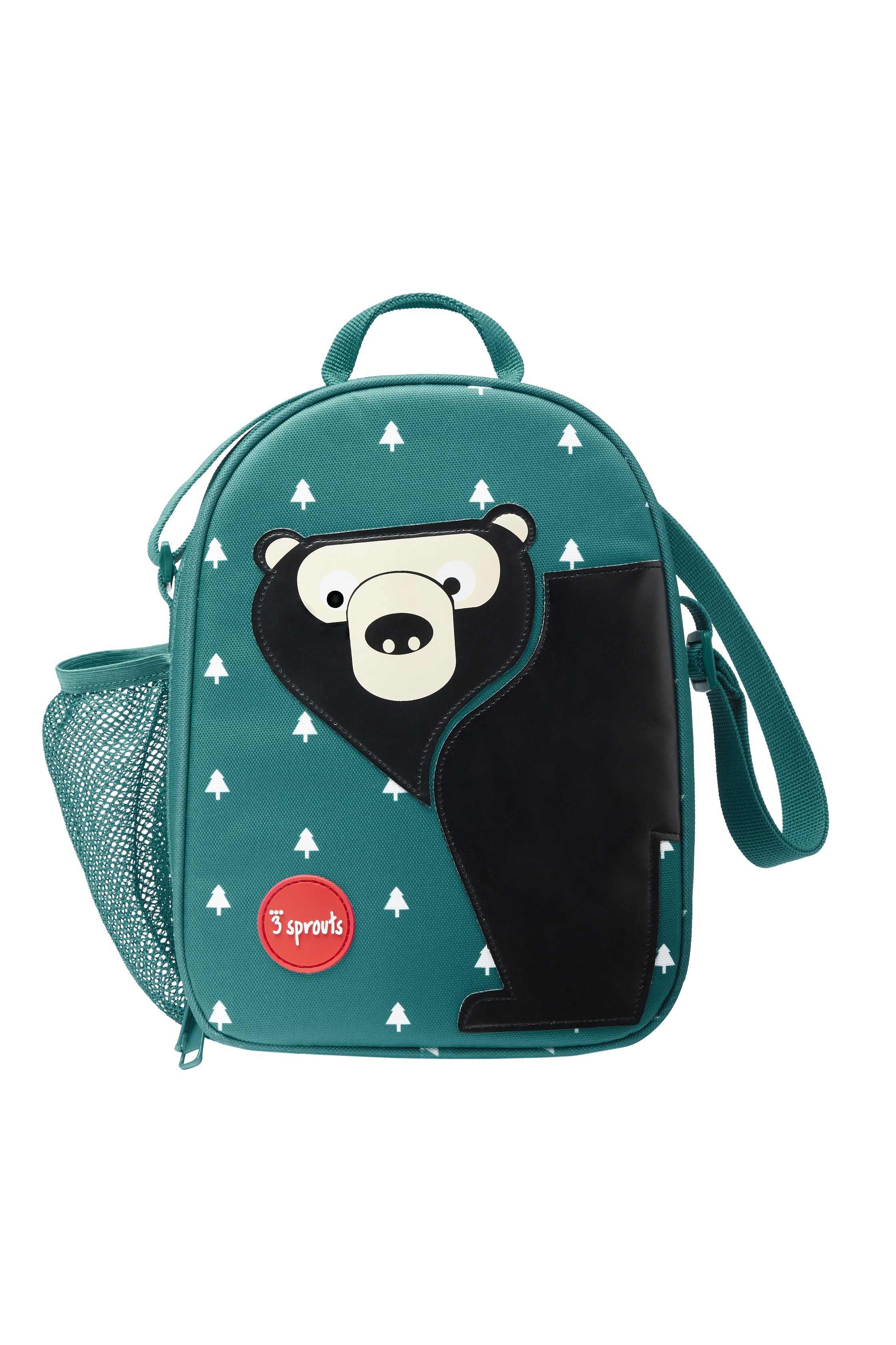 3 Sprouts - Lunch Bag - Teal Bear