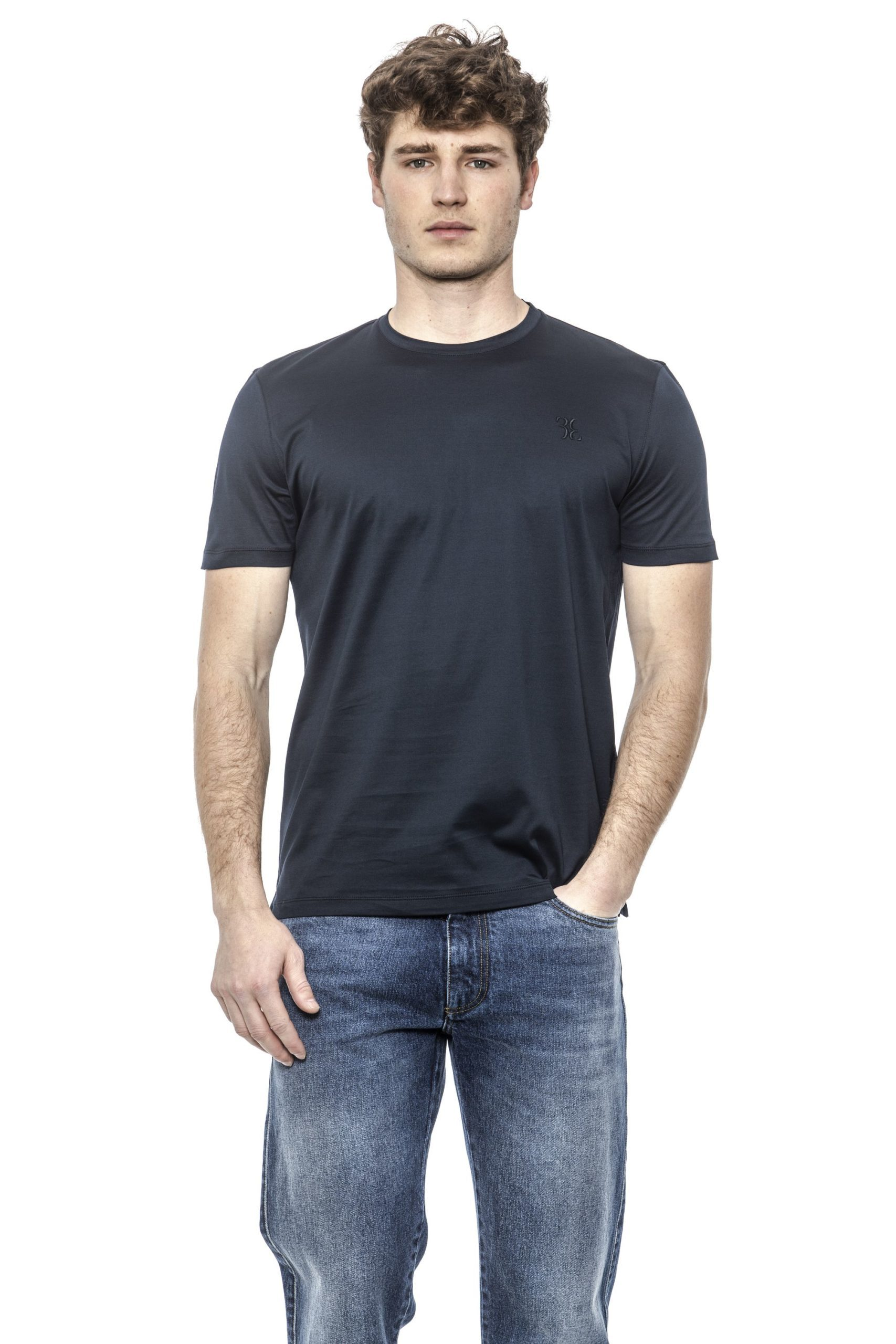 Billionaire Italian Couture Men's T-Shirt Blue BI1398007 - S