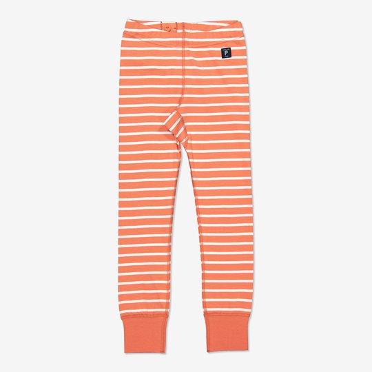 Stripet bukse orange