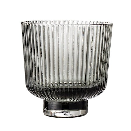 Lykt Grey Glass Ø9xH8,5 cm