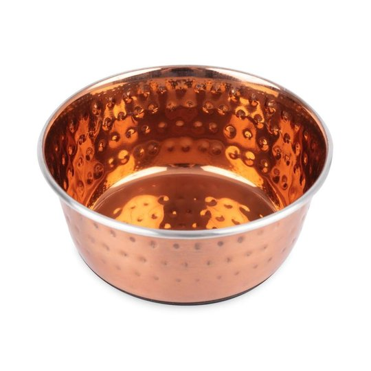 Little&Bigger Hamrad Metallic Skål Koppar (500 ml)