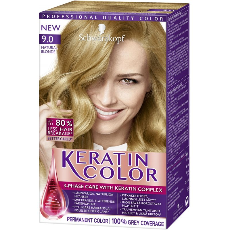 "Hiusväri ""Keratin Color 9.0 Natural Blonde"" - 37% alennus"