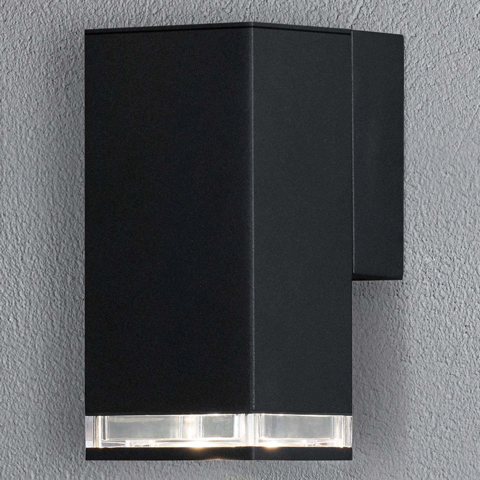 Antares utendørs vegglampe downlight 16,5cm, svart