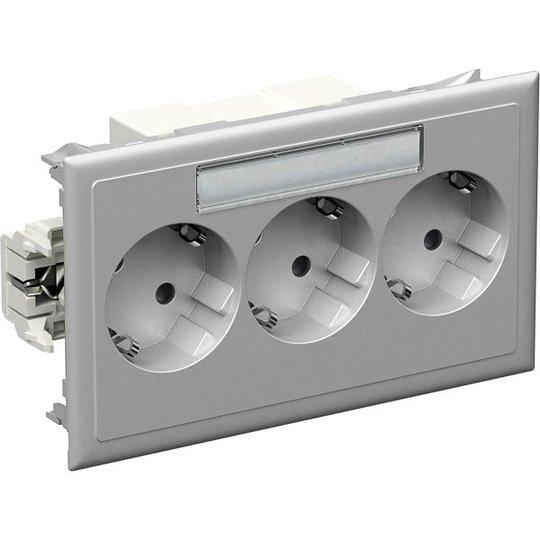 Schneider Electric 5940113 Master-pistorasia 3-osainen, alumiini