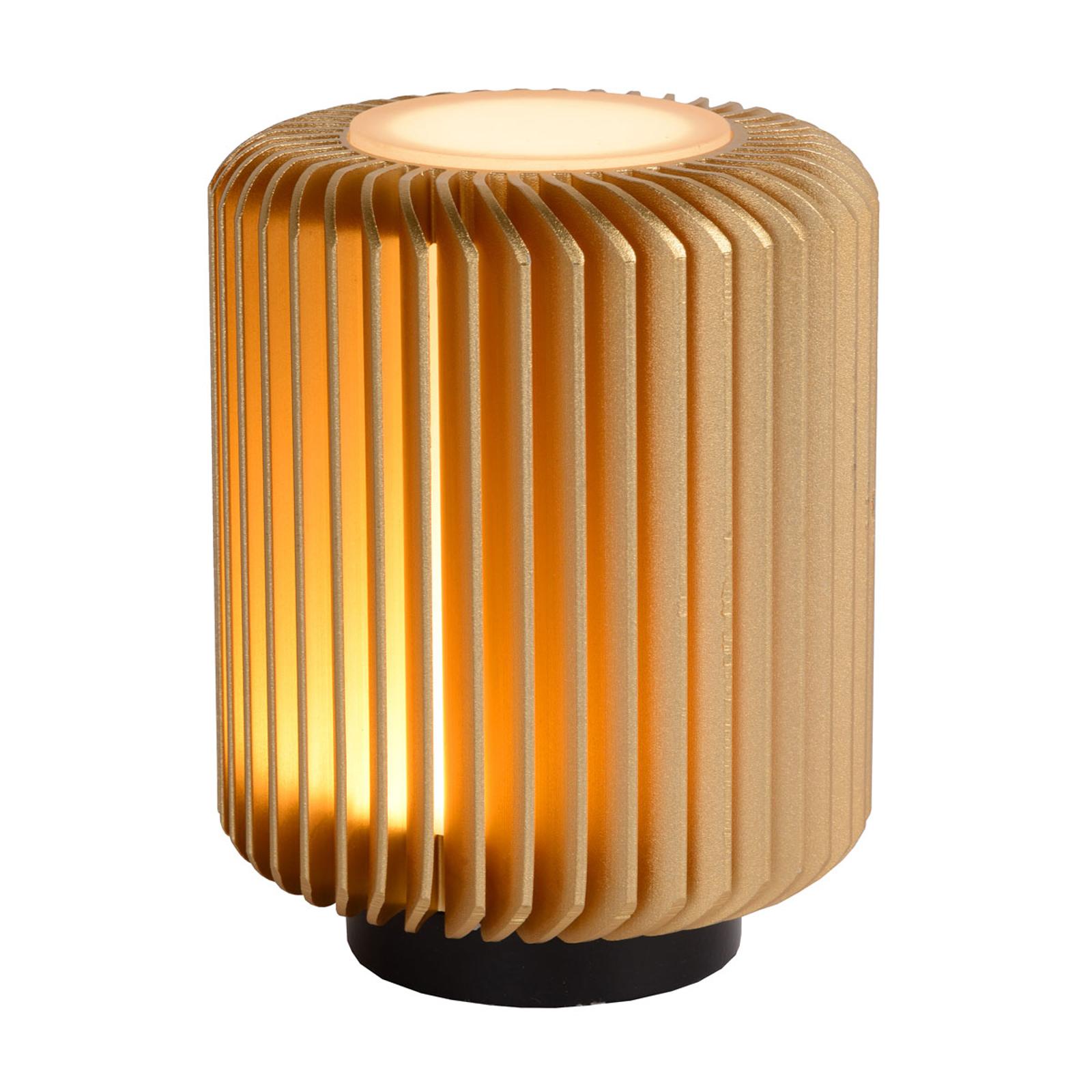 LED-pöytälamppu Turbin, kulta