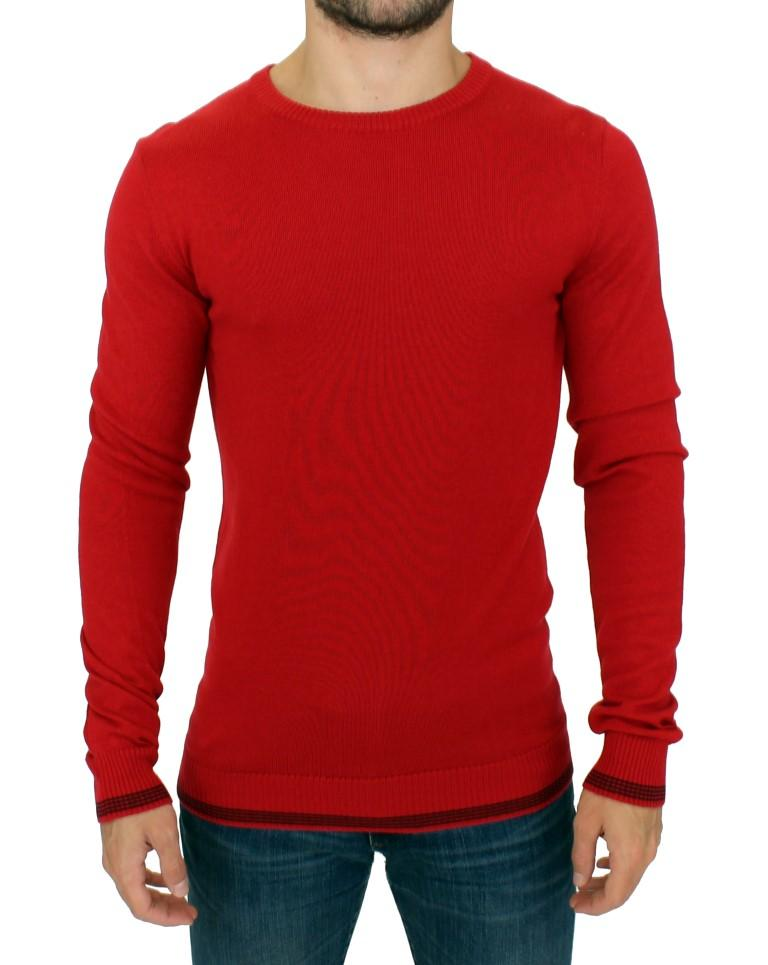 Costume National Men's Crewneck Wool Sweater Red SIG10532 - IT48 | M