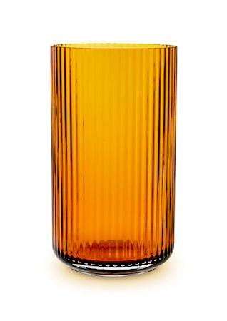 Lyngby Vas Amber Munblåst Glas H31 cm