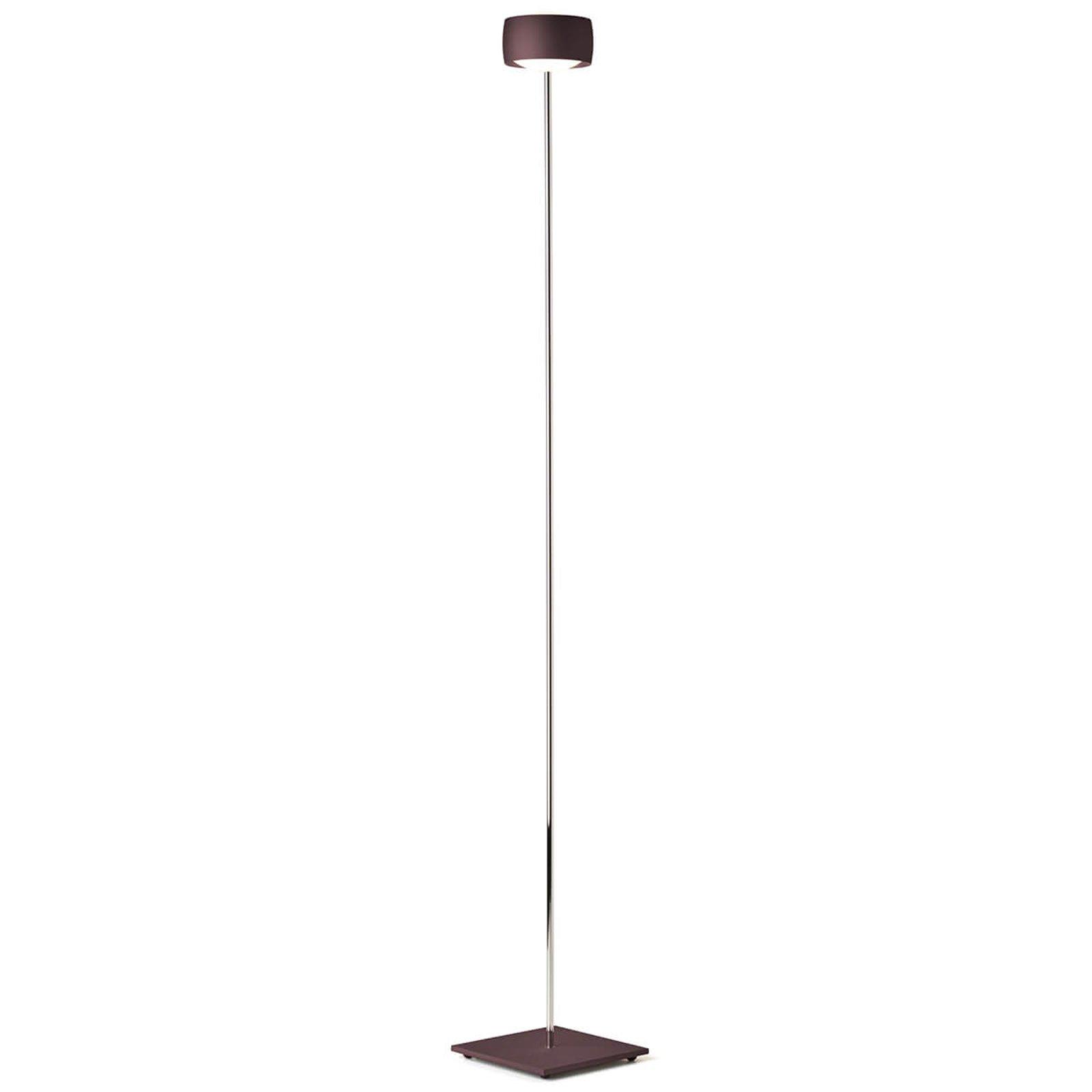 LED-gulvlampe Grace med bevegelsesstyring espresso