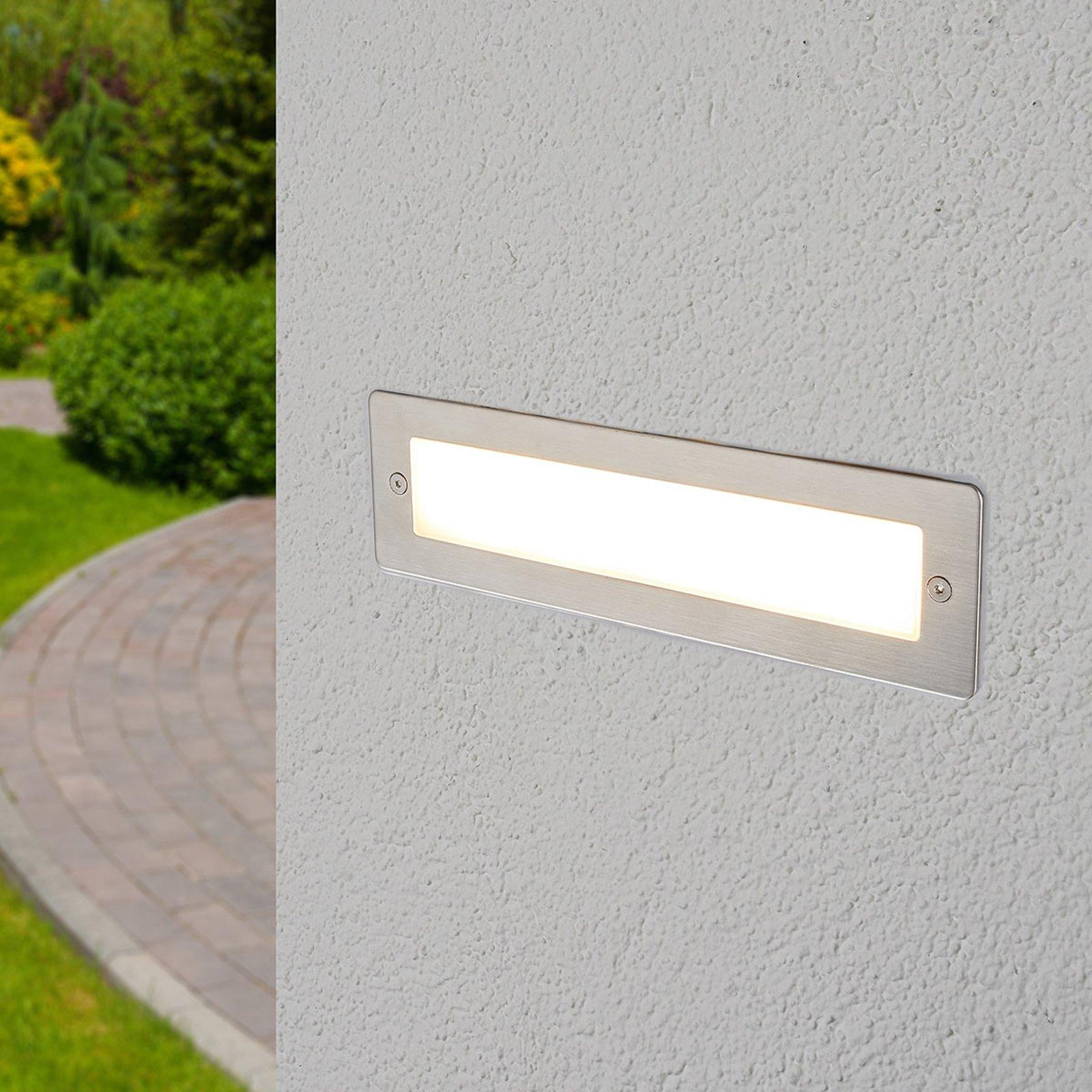 Utendørs LED-vegglampe Jonte for innfelling