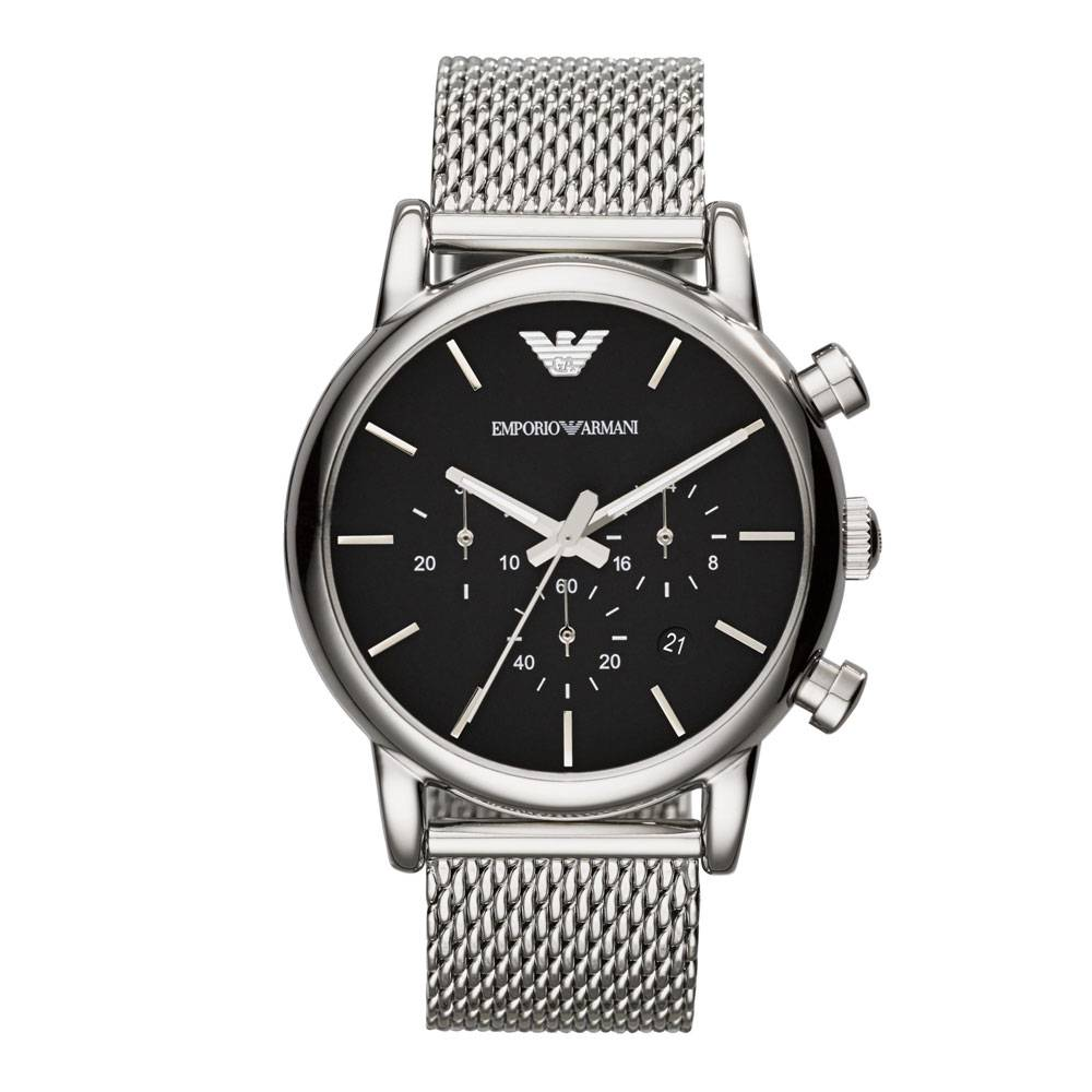 Emporio Armani Men's Luigi Chronograph Stainless Steel Watch Silver AR1811