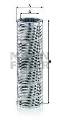 Suodatin, työhydrauliikka MANN-FILTER HD 13 003