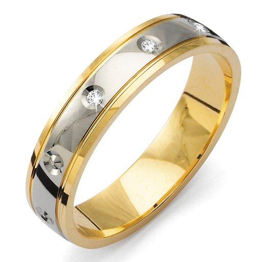 Diamantring i 18K guld, 51