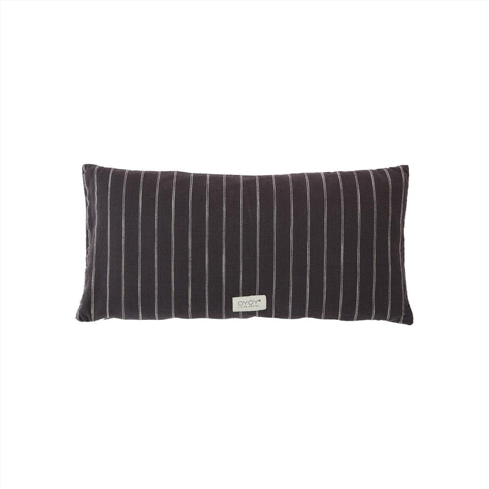 OYOY Living - Kyoto Long Organic Cushion - Anthracite