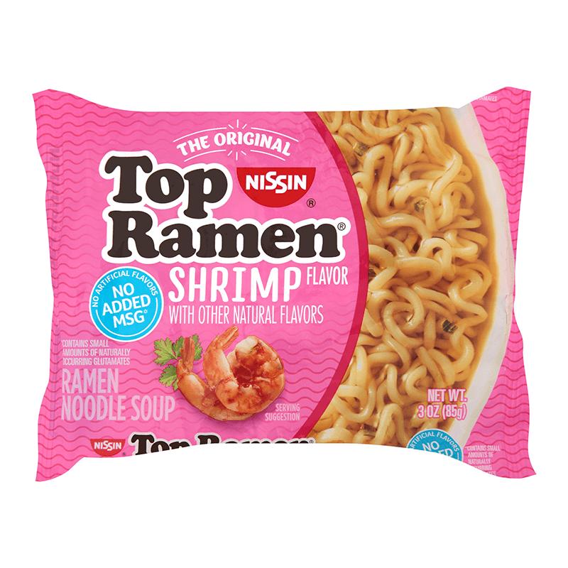 Nissin Top Ramen Shrimp Flavor 85g