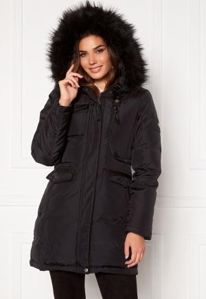 Hollies Livigno Long Coat Black/Black 44