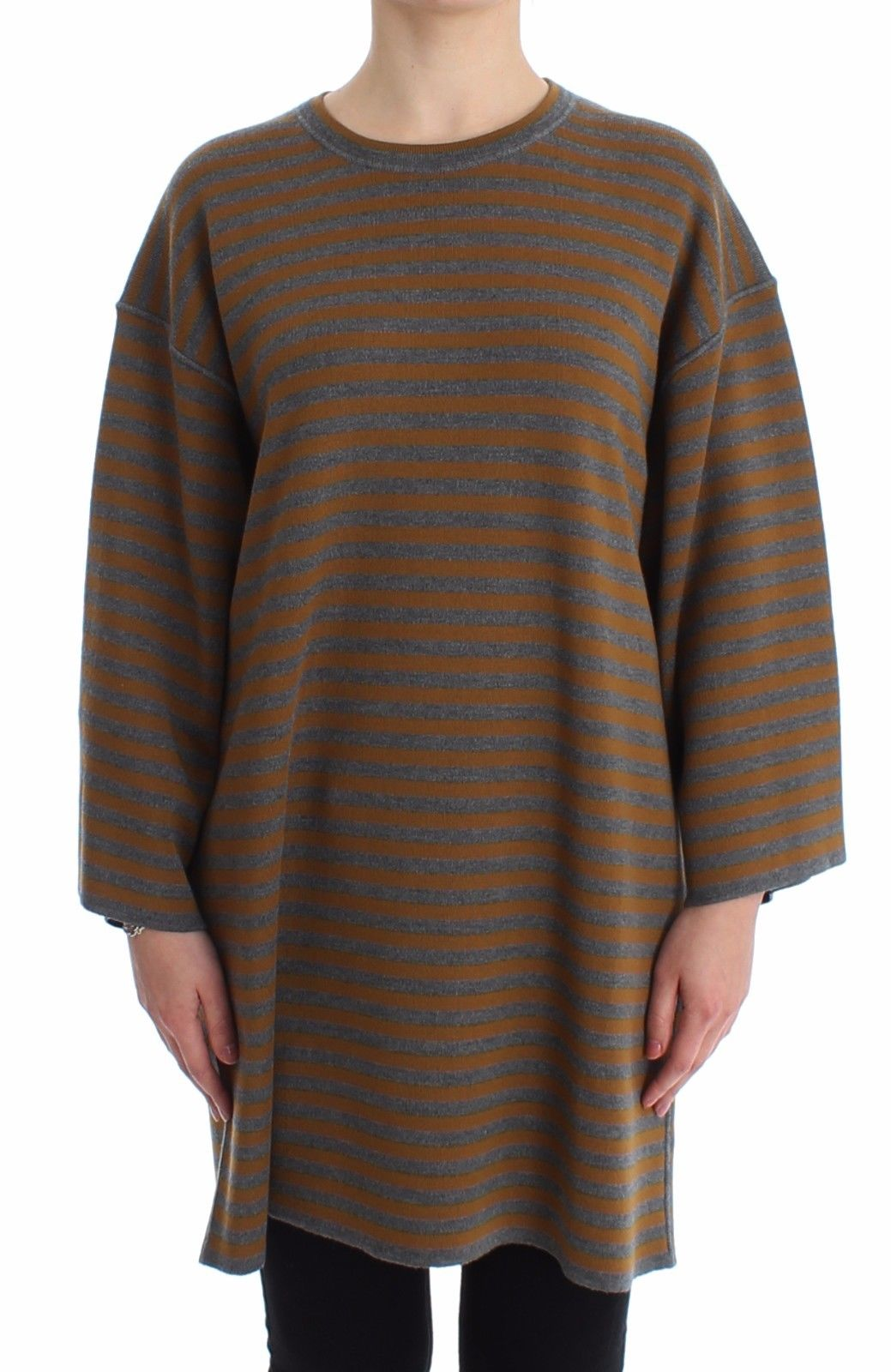 Dolce & Gabbana Women's Oversized Striped Top Gray SIG13232 - IT40| L