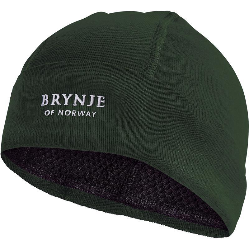 Brynje Arctic Hat Original grønn L Lue med netting på innsiden