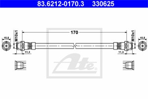 Jarruletku, Taka-akseli, AUDI A6, A6 Avant, 4B0 611 775