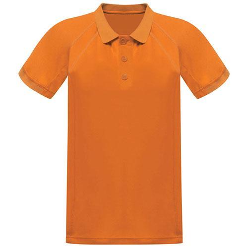 Regatta Men's Coolweave Polo Shirt Various Colours L_Regatta Coolweave - Sunburst Orange S
