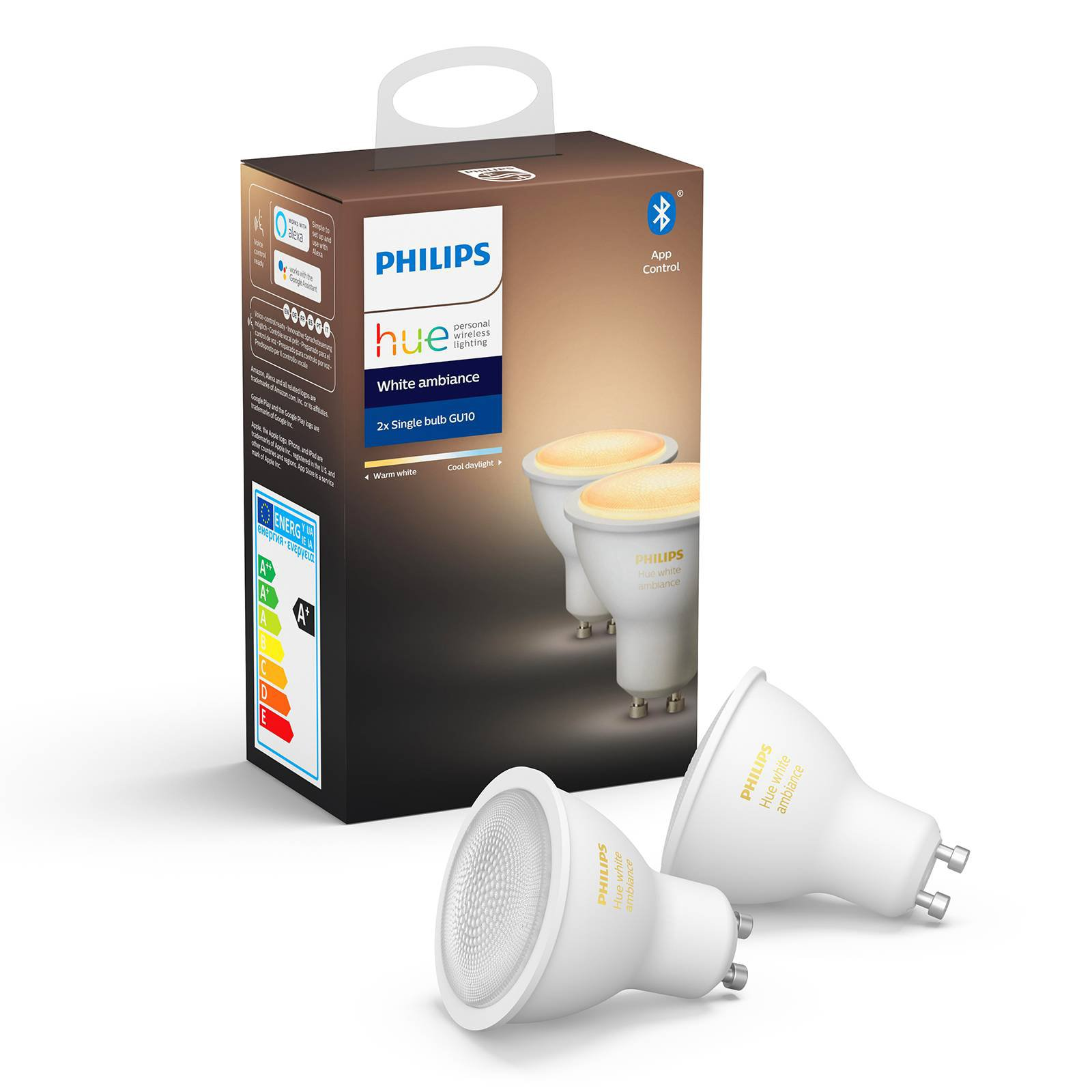 Philips Hue White Ambiance 5 W GU10 LED, 2-pkn