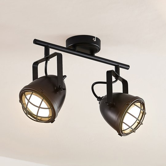 Lindby Biona -LED-kattokohdevalo, 2-lamppuinen