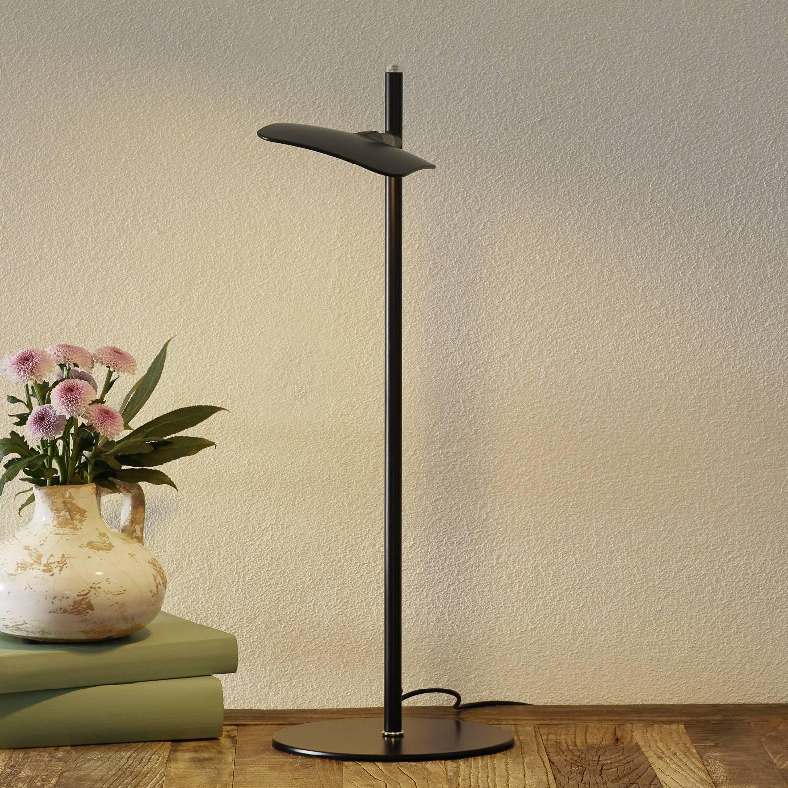 LED-pöytälamppu Raggio, himmennettävä, musta