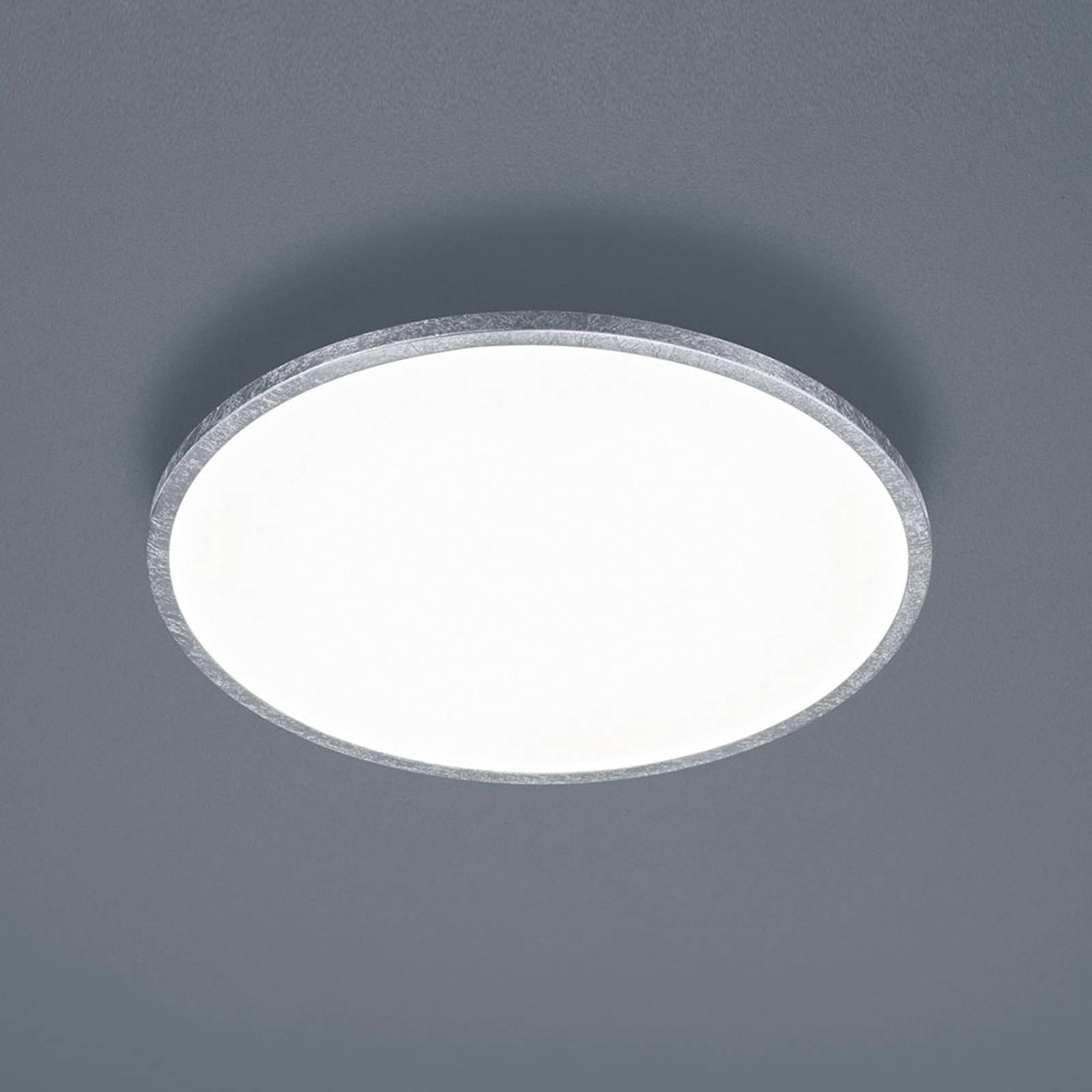 Helestra Rack LED-taklampe, dimbar, rund, sølv