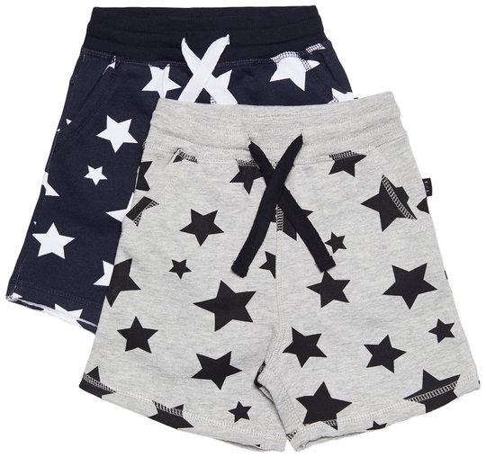 Luca & Lola Fabriano Shorts 2-pack, Night Sky/Grey Melange 86-92