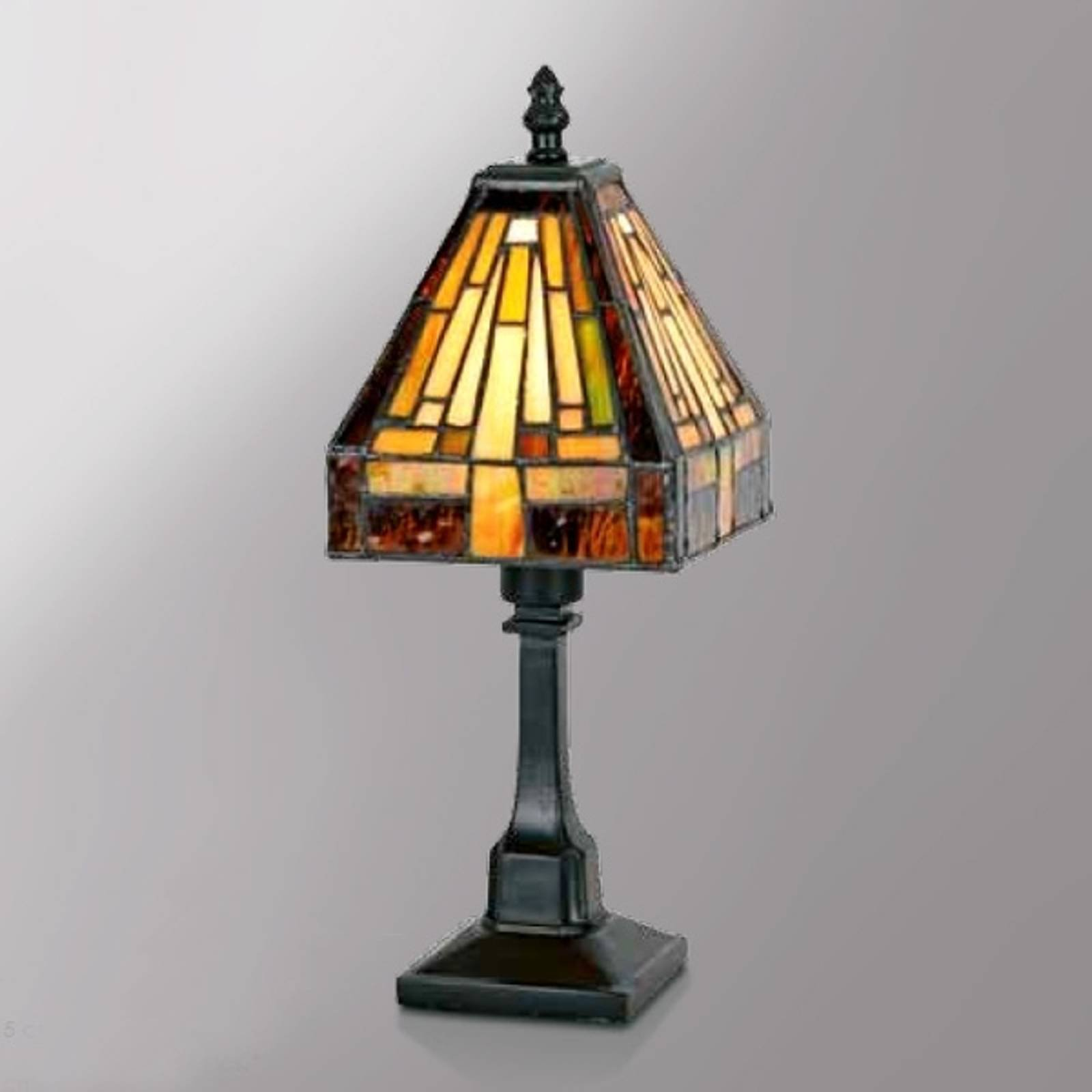 Spennende Bea bordlampe i Tiffany-stil