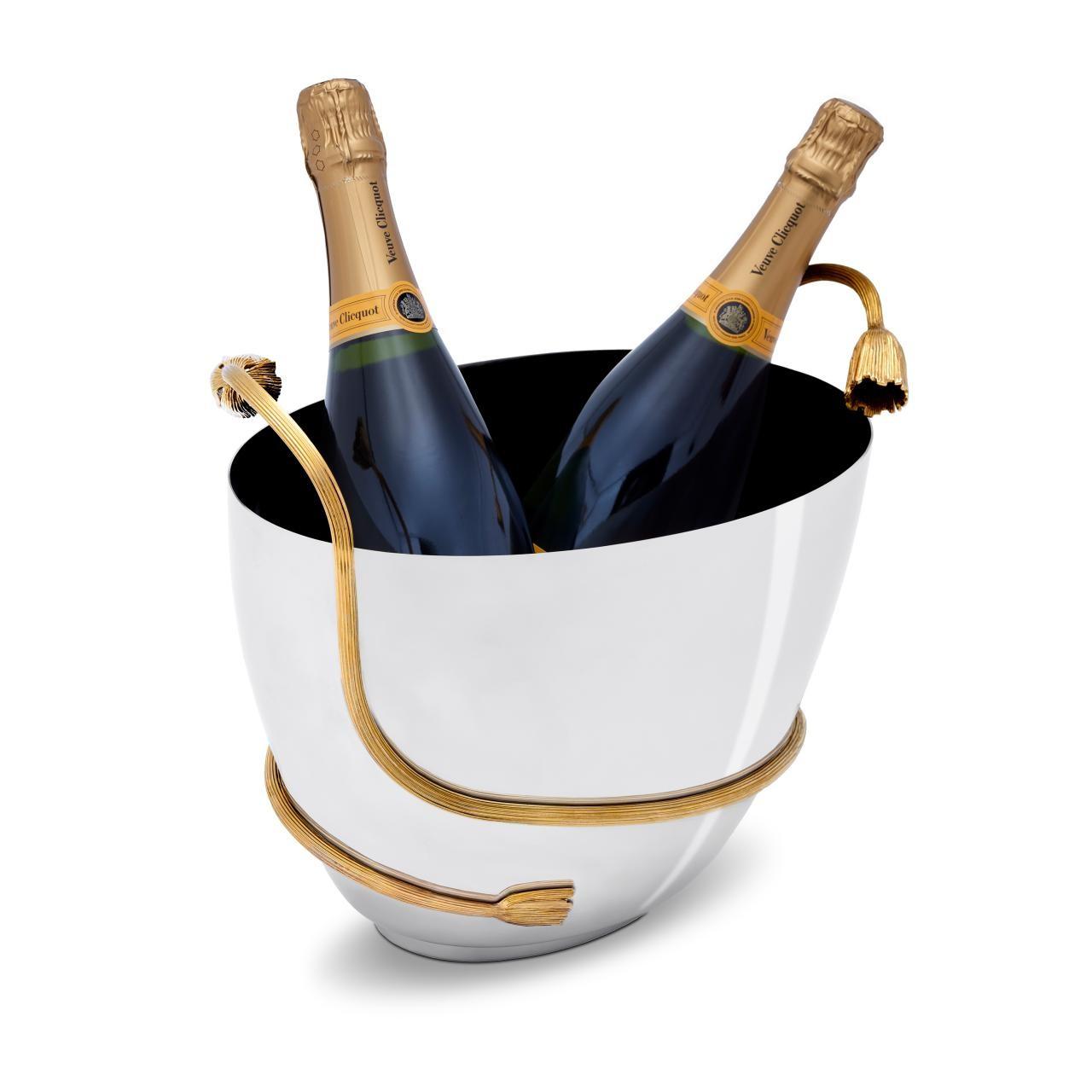 L'Objet I Deco Leaves Champagne Bucket