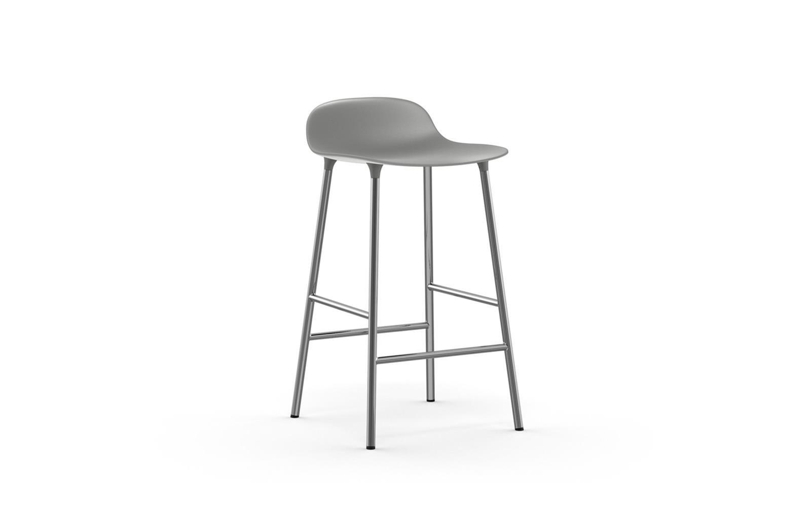 Normann Copenhagen - Form Bar Stool 65 cm - Grey/Chrom Legs (603157)