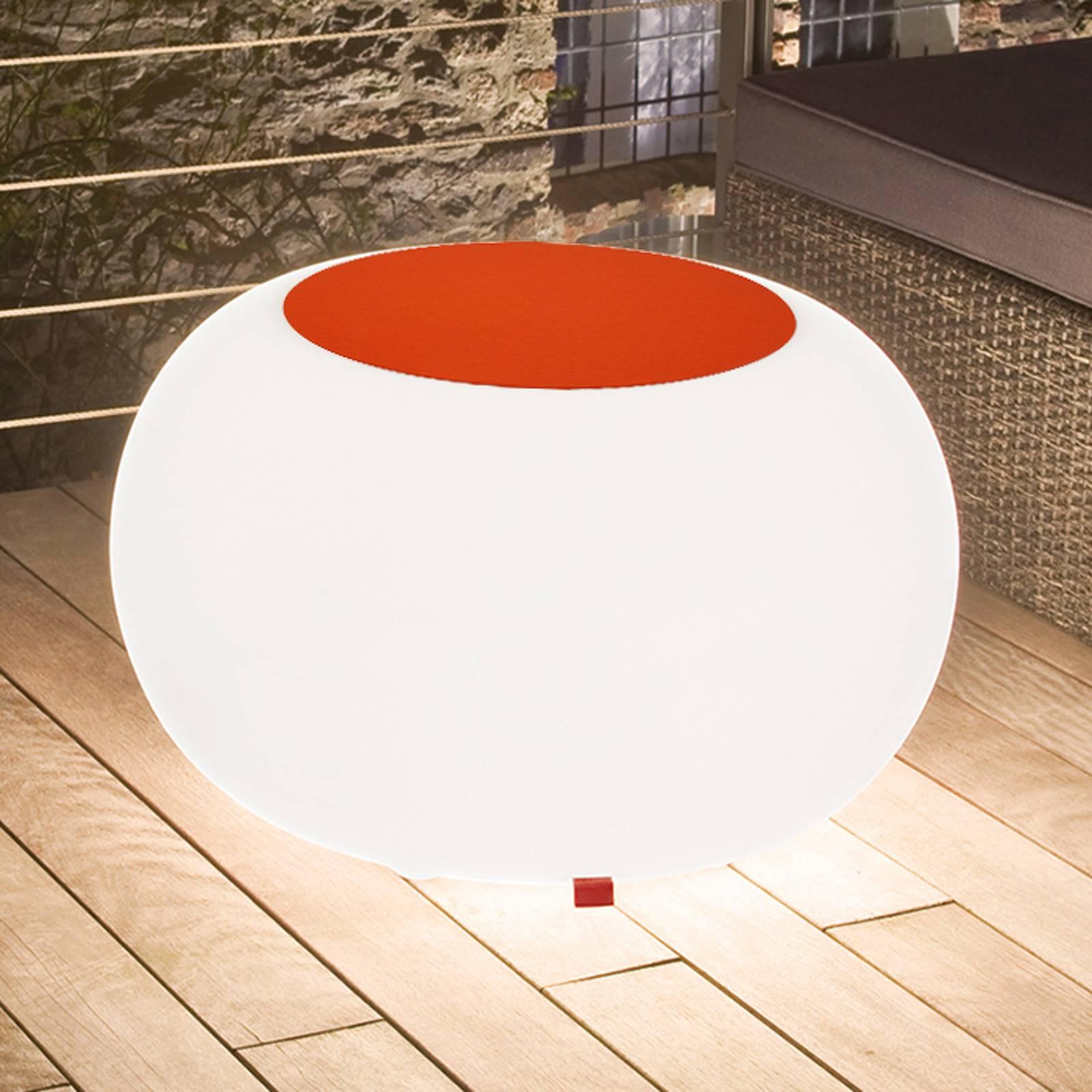 Bubble Outdoor pöytä valo valkoinen huopa oranssi