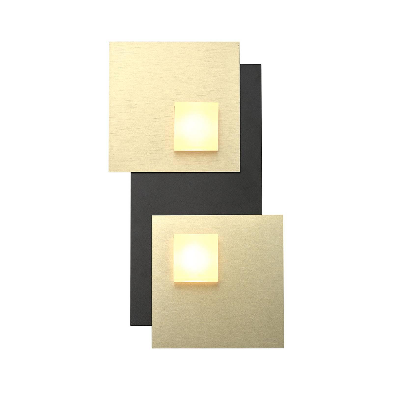 Bopp Pixel 2.0 LED-kattovalaisin, 2-lamp., musta