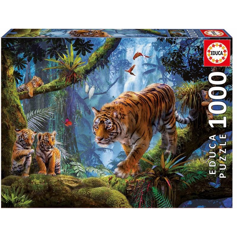 Educa - Puzzle 1000 - Tigers in the Tree ( 017662)