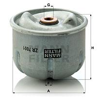 Öljynsuodatin MANN-FILTER ZR 7001