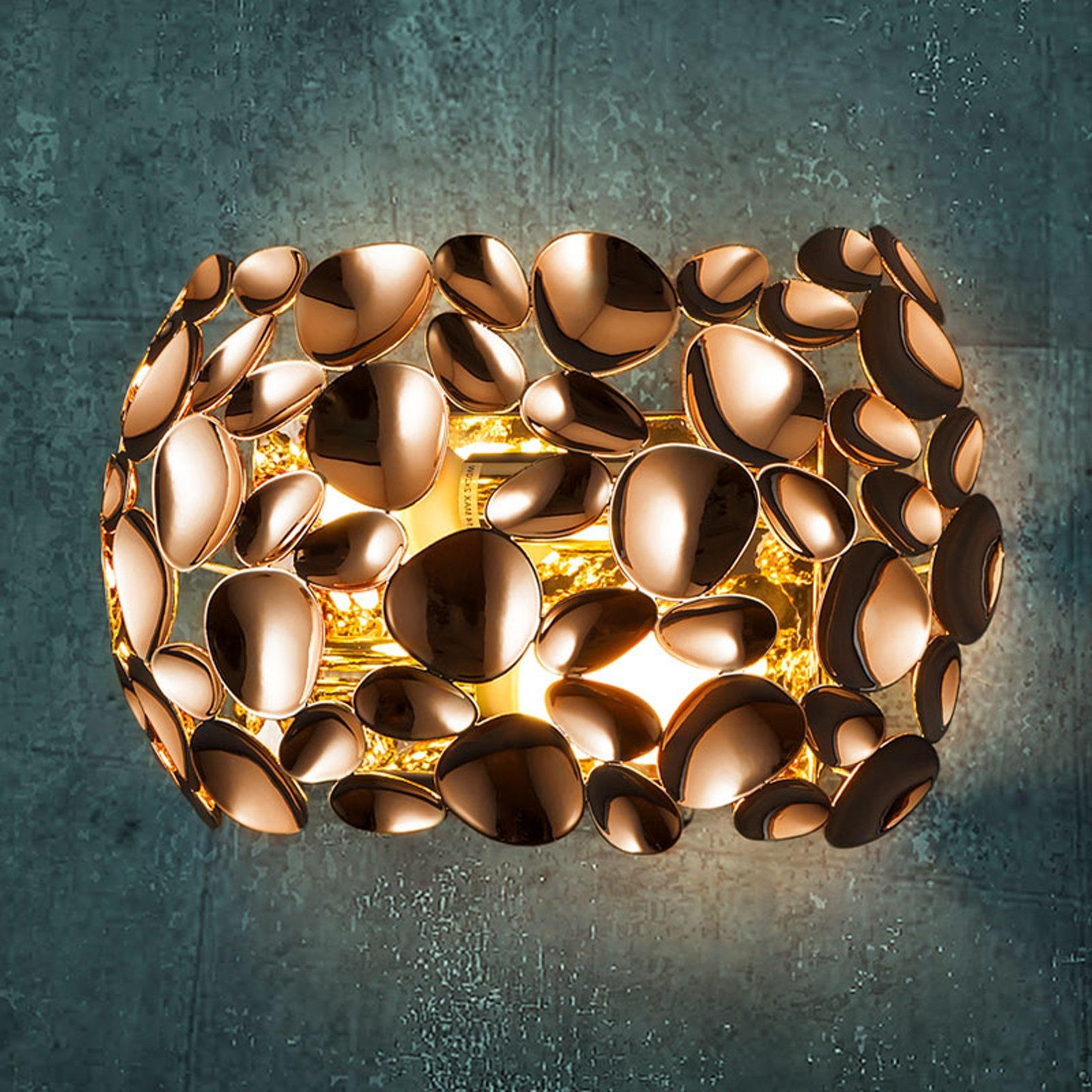 LED-vegglampe Narisa roségull