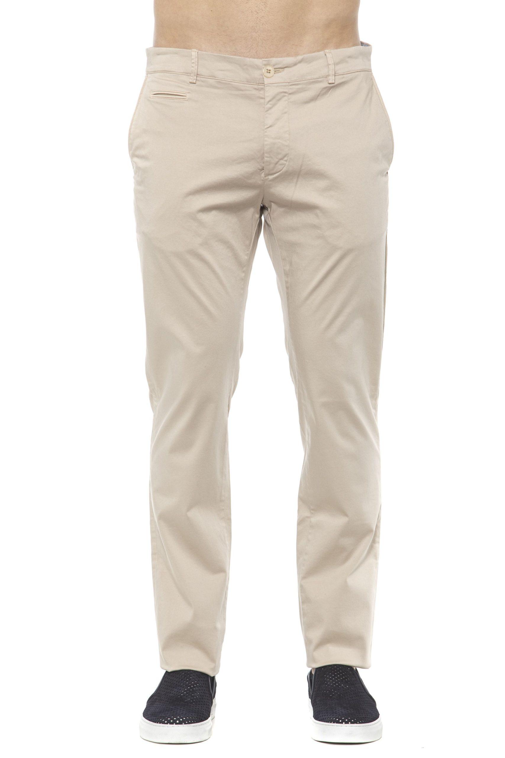 Alpha Studio Men's Sabbia Trouser Beige AL1394965 - IT48 | M