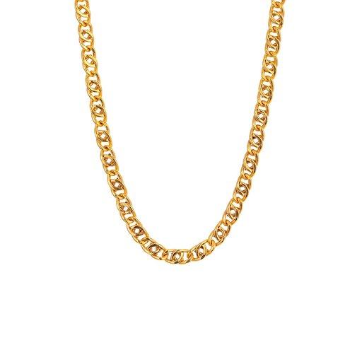 Halsband i förgyllt äkta silver