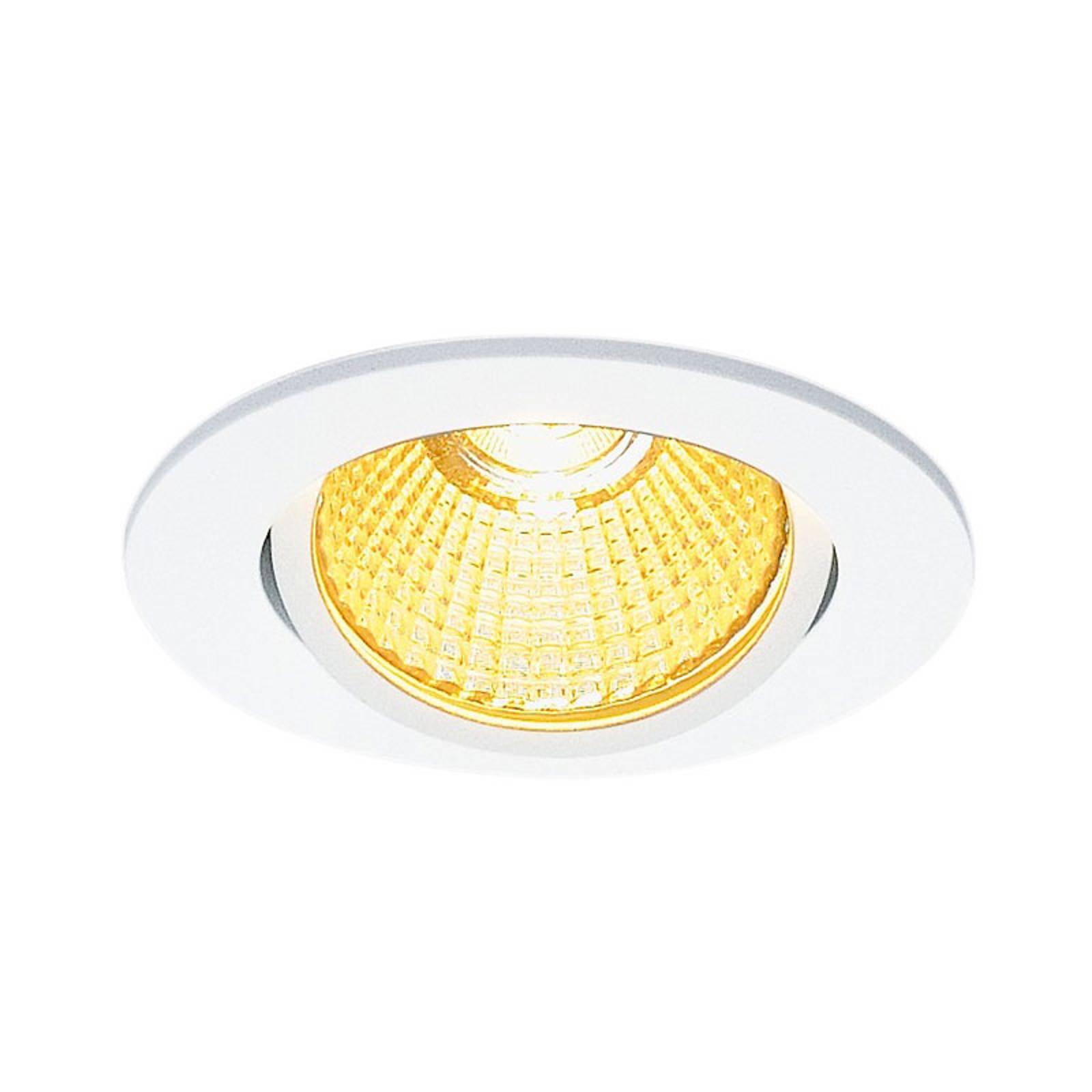 SLV New Tria 68 LED-downlight, rund, hvit