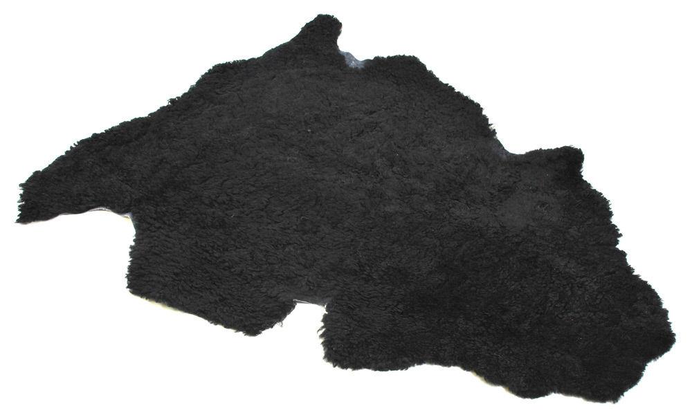 Krøllete saueskinn - svart