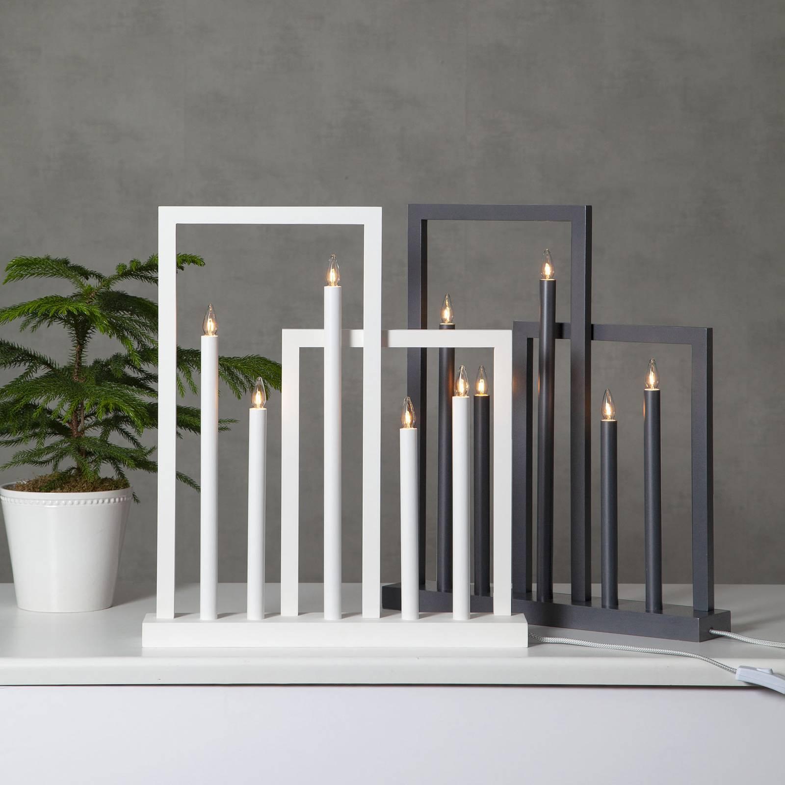 Frame-ikkunakynttelikkö, 5-lamppuinen, valkoinen