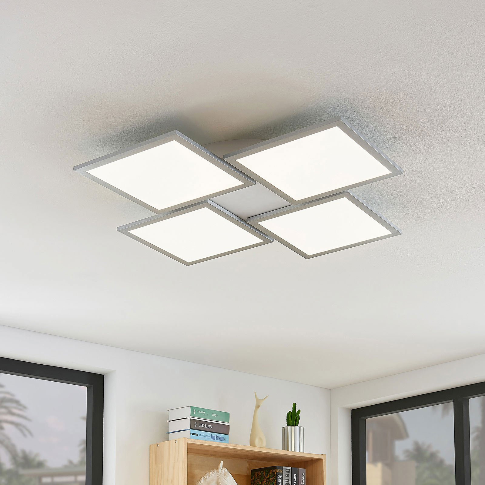 LED-taklampe Ilira, dimbar, CCT, 4 lyskilder