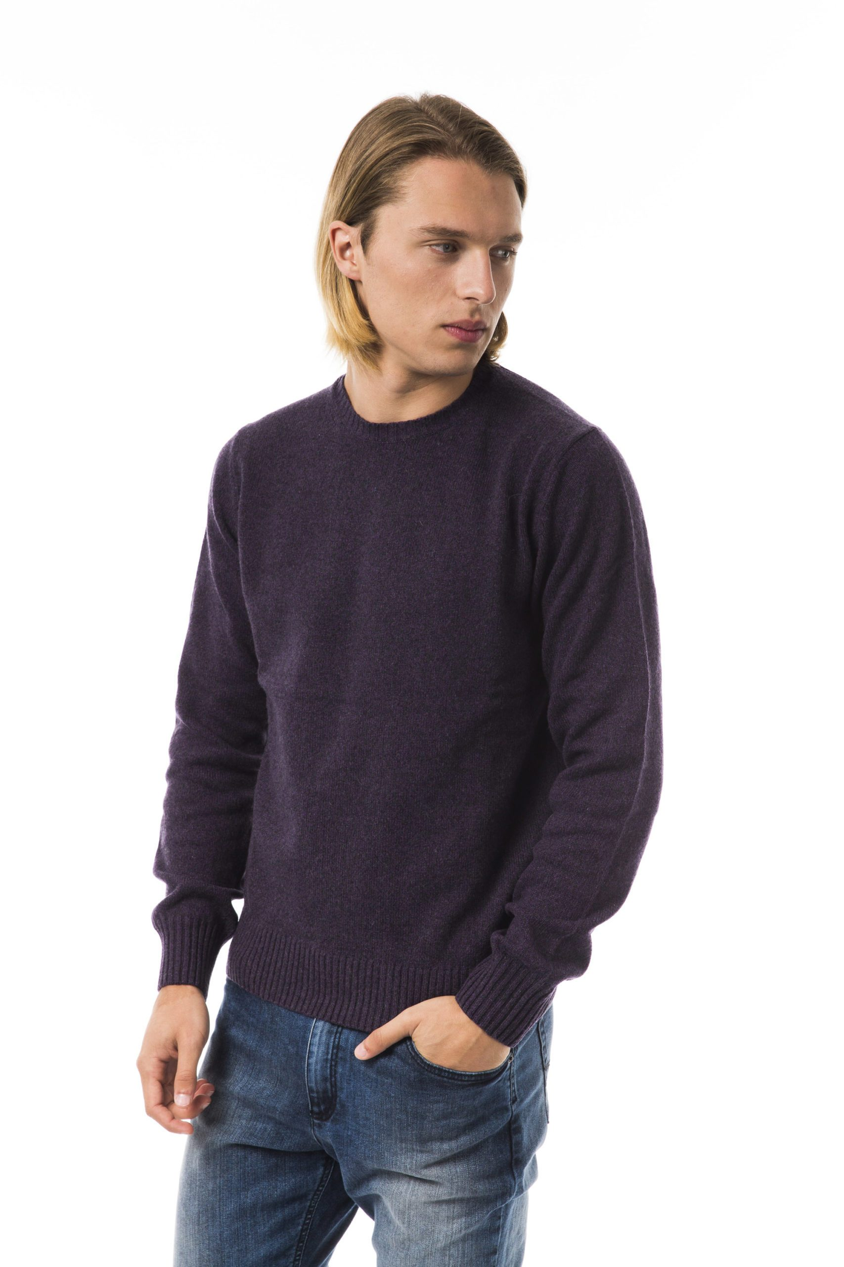 Uominitaliani Men's Sweater Violaantr Sweater Violet UO815731 - L