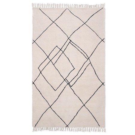 Håndvevd zigzag Teppe Black/White 150x240 cm
