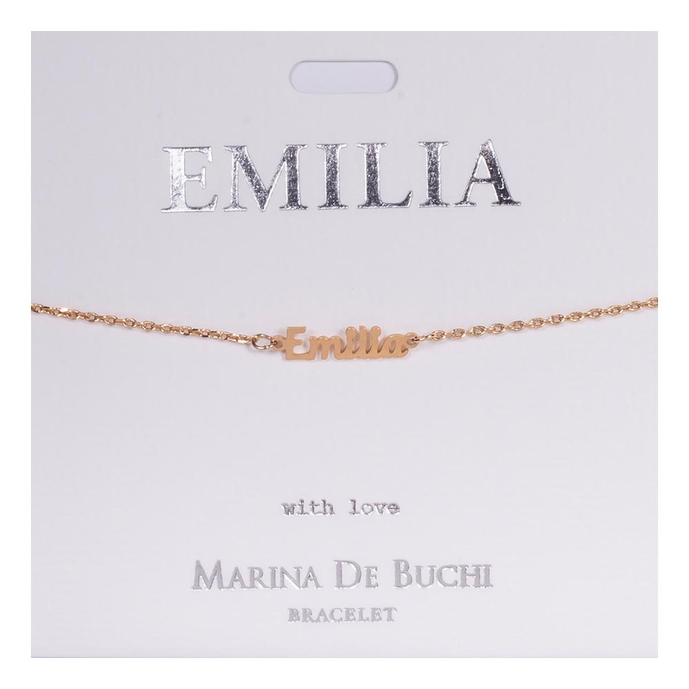 Namnarmband Guld - Emilia
