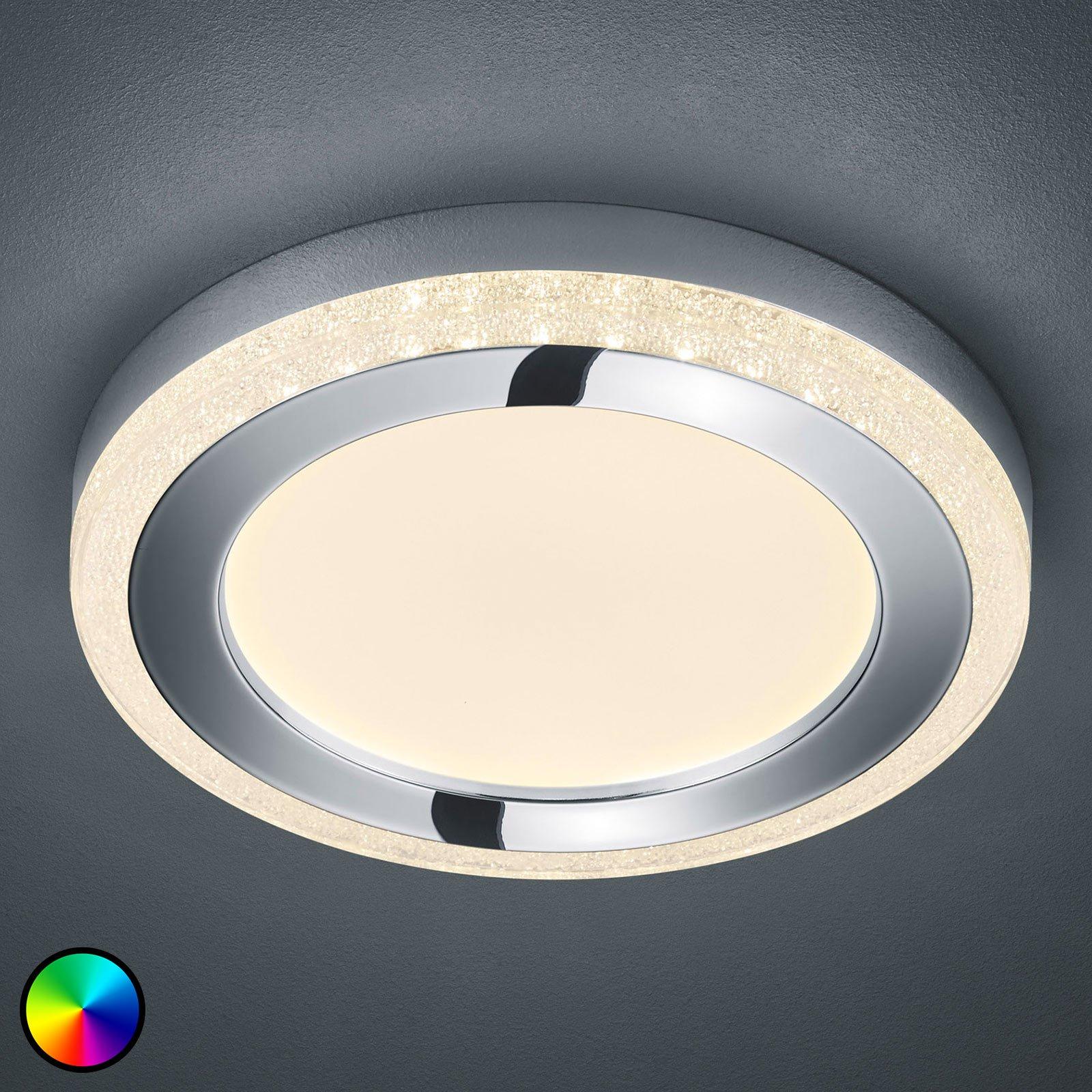 LED-taklampe Slide, hvit, rund, Ø 40 cm