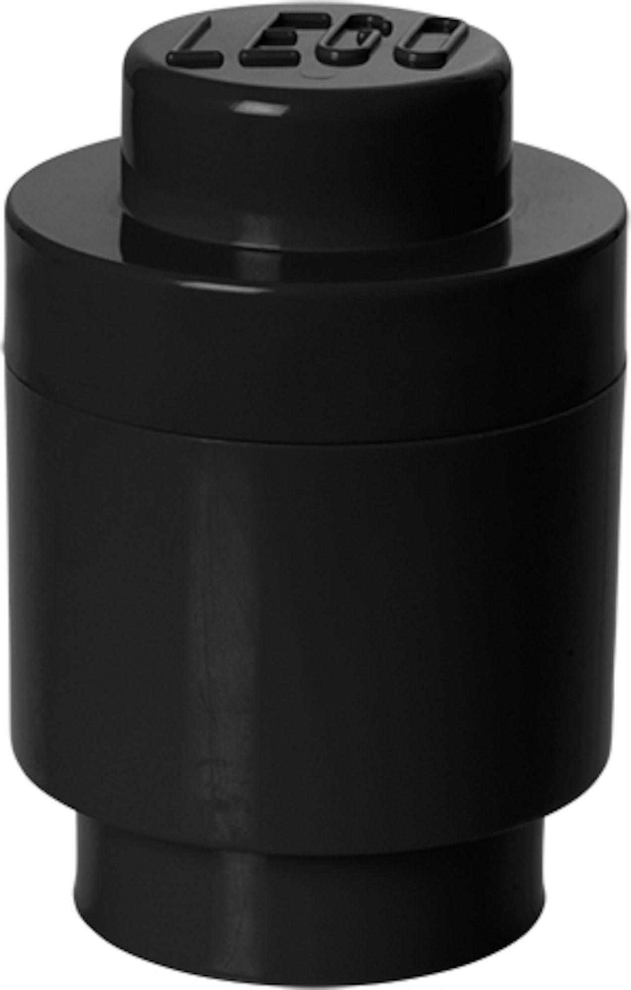 LEGO 1 Pyöreä Säilytyslaatikko, Musta